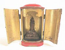 MINIATURE BUDDHA AND CABINET SHRINE, Japanese,
