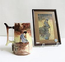 AFTER EDMUND FREDERICK PORCELAIN MUG AND PRINT,