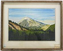 CLIVE DAVIES, WATERCOLOR ON PAPER (Wales/Oregon,