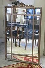 A CARVED AND GILDED WOOD WALL MIRROR, American, c.