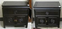 PAIR OF CONTEMPORARY CHINESE CABINET NIGHTSTANDS