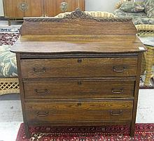 LATE VICTORIAN OAK CHEST OF DRAWERS, American,