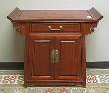 ROSEWOOD ALTAR CABINET, Chinese export, 20th