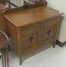 ELM WOOD SIDE CABINET, Swedish, early 20th
