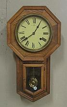SESSIONS OAK CASE REGULATOR WALL CLOCK, height 22