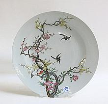 CHINESE ENAMELED PORCELAIN PLATE