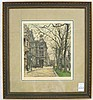 LUIGI KASIMIR ETCHING AND AQUATINT (Austria,
