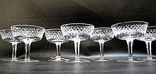 SET OF EIGHT WATERFORD CUT CRYSTAL SHERBETS in the