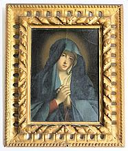 HAND PAINTED MADONNA PORTRAIT AFTER CARLO DOLCI