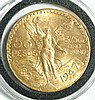 MEXICO FIFTY PESOS GOLD COIN, 1947, .900 fine