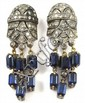 A PAIR OF VINTAGE ART DECO EARRINGS, each a