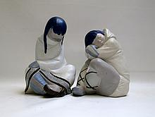TWO LLADRO PORCELAIN SCULPTURES, both by Juan