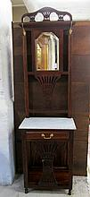 MAHOGANY HALLSTAND WITH MARBLE TOP, Indonesian