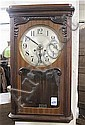 MAHOGANY BOX-CASE WALL CLOCK, German, early 20th