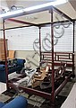 BAKER CANOPY BED, Baker Furniture Co., Chinese