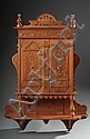 PINE WALL CABINET, Continental, c. 1900, the