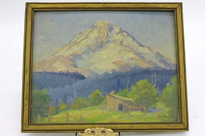 PERCY L. MANSER OIL CARDBOARD (Oregon 1886-1973)