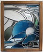 LEADED ART GLASS WINDOW, Mark Eric Gulsrud Art