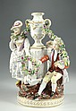 ENGLISH PORCELAIN FIGURAL GROUP, attributed to