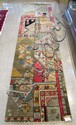 HAND KNOTTED ORIENTAL RUNNER, similar random panel