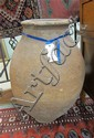 EARLY TURKISH CLAY POTTERY OIL JAR, large size,