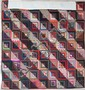 AMERICAN HAND PIECED LOG CABIN QUILT, Straight