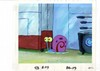 MUSEUM  GRADE SPONGEBOB SQUAREPANTS PRODUCTION CEL AND PRODUCTION BACKGROUND FROM THE FIRST YEAR 1999  FEATURING A  CEL OF GARY AND A BACKGROUND OF SPONGEBOB'S KITCHEN
