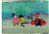MUSEUM  GRADE SPONGEBOB SQUAREPANTS PRODUCTION CEL AND PRODUCTION BACKGROUND FROM THE FIRST YEAR 1999  FEATURING A  CELS OF PATRICK SPONGEBOB AND KRABS FROM THE EPISODE ARRGH!