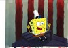 MUSEUM  GRADE SPONGEBOB SQUAREPANTS PRODUCTION CEL AND PRODUCTION BACKGROUND FROM THE FIRST YEAR 1999  FEATURING A  CEL OF SPONGEBOB FROM THE EPISODE SQUEAKY BOOTS