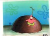 MUSEUM  GRADE SPONGEBOB SQUAREPANTS PRODUCTION CEL AND PRODUCTION BACKGROUND FROM THE FIRST YEAR 1999  FEATURING A  CEL OF PATRICK FROM AN UNKNOWN EPISODE