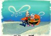 MUSEUM  GRADE SPONGEBOB SQUAREPANTS PRODUCTION CEL AND PRODUCTION BACKGROUND FROM THE FIRST YEAR 1999  FEATURING A  CEL OF MERMAIDMAN AND BARNACLEBOY FROM THE EPISODE MERMAIDMAN AND BARNACLEBOY 2