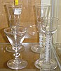 Late 18th century cordial glass with double air