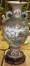 19th century Chinese Famille Rose style vase with
