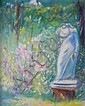Ada  Rayner  (1901-1986), Outdoor Still Life with Statue, oil on canvas, Ada Rayner, Click for value