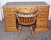 Nine Drawer Knee Hole Desk with Chair
