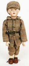 German Hueback Boy Porcelain Doll - Kaueli Heard