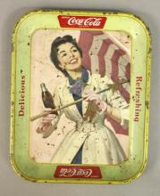Original 1957 Coca - Cola Girl w/ Umbrella Collect