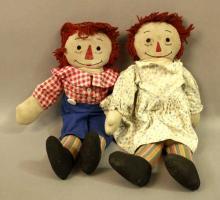Vintage Raggedy Ann & Andy Cloth Dolls