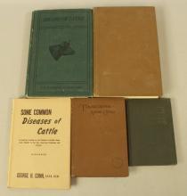 5 Lot Livestock Books, Year: 1895, 1920s, 30s, 40s