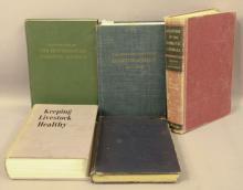 5 Lot Veterinarian Books - 1940s & 1950s