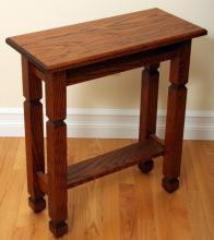 Narrow Cherry Wood End Table