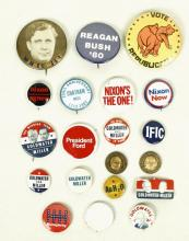 Lot of Vintage President Pin Back Buttons