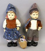 Hummel Boy & Girl Porcelain Dolls