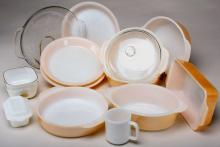 Fire King Peach Luster Bake Ware Lot