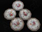 SET OF FIVE DRESDEN PORCELAIN DESSERT PLATES