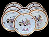 SET OF EIGHT HEREND PORCELAIN SERVICE PLATES