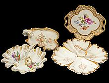 GROUP OF FOUR PORCELAIN SERVING DISHES
