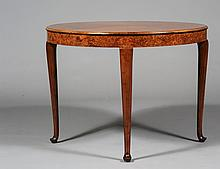 QUEEN ANNE STYLE ROUND SIDE TABLE