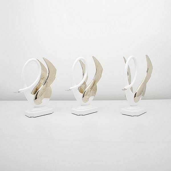 Set of 3 Maison Jansen Swans Table Bases
