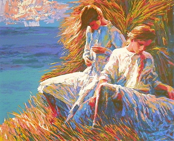 Large Framed Nicola Simbari Print